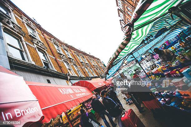 brixton street market. - brixton stock pictures, royalty-free photos & images