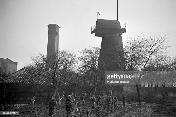 Brixton Windmill Blenheim Gardens Lambeth London 1935 Windmills are not only a feature of rural areas This tower mill is still standing in Brixton...