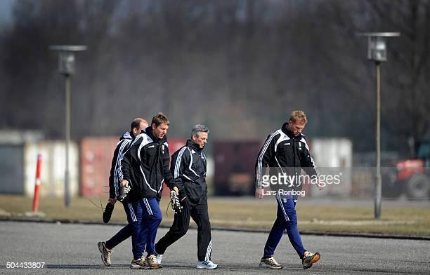 Brøndby Training- Henrik Jensen - new Teamcoach - Assistantcoach Kim Daugaard - Assistantcoach Rene Skovdahl - goalkeepercoach Morten Cramer. © Lars...