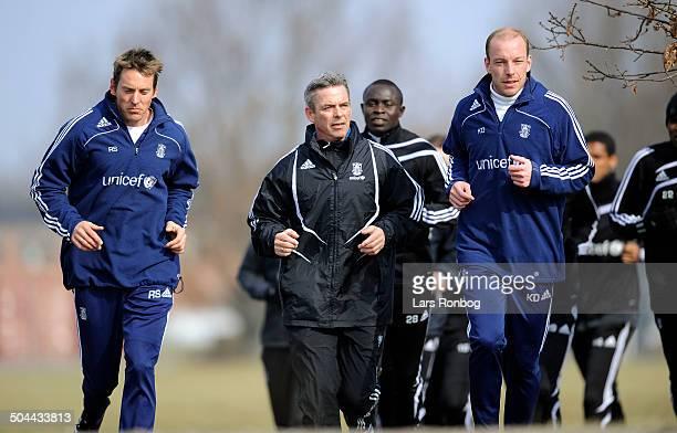 Brøndby Training- Henrik Jensen - new Teamcoach - left Assistantcoach Rene Skovdahl - right Assistantcoach Kim Daugaard © Lars Rønbøg / Frontzonesport