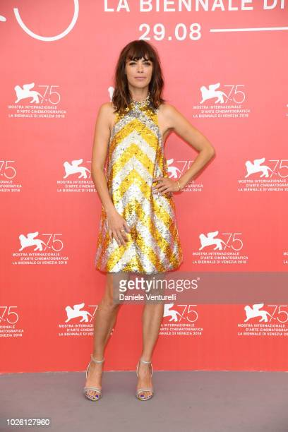 Bérénice Bejo attends 'La Quietud' photocall during the 75th Venice Film Festival at Sala Casino on September 2 2018 in Venice Italy