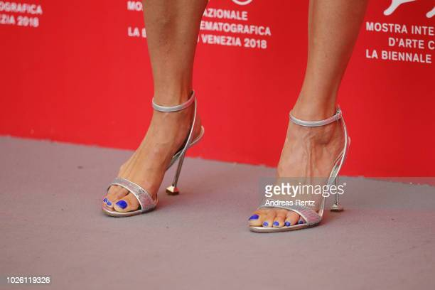 Bérénice Bejo detail attends 'La Quietud' photocall during the 75th Venice Film Festival at Sala Casino on September 2 2018 in Venice Italy