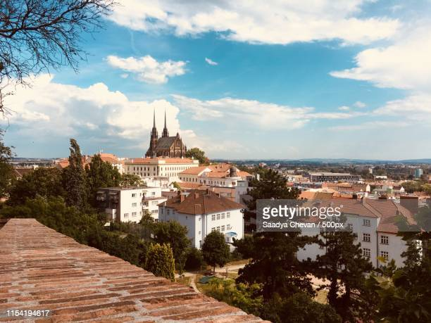 brno from the west - czech republic stock pictures, royalty-free photos & images