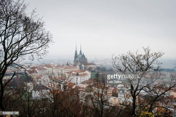 Brno overview on a gloomy day.