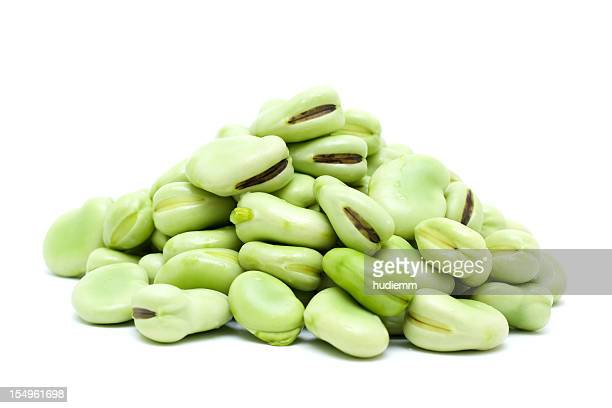 broad bean isolated on white background