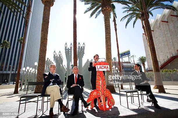 Broad Contemporary Art Museum guest speakers architect Renzo Piano, philanthropist Eli Broad, LA County Supervisor Zev Yaroslavsky and LACMA director...