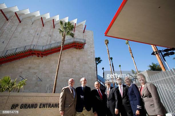 Broad Contemporary Art Museum guest speakers, architect Renzo Piano , philanthropist Eli Broad , LA County Supervisor Zev Yaroslavsky and LACMA...