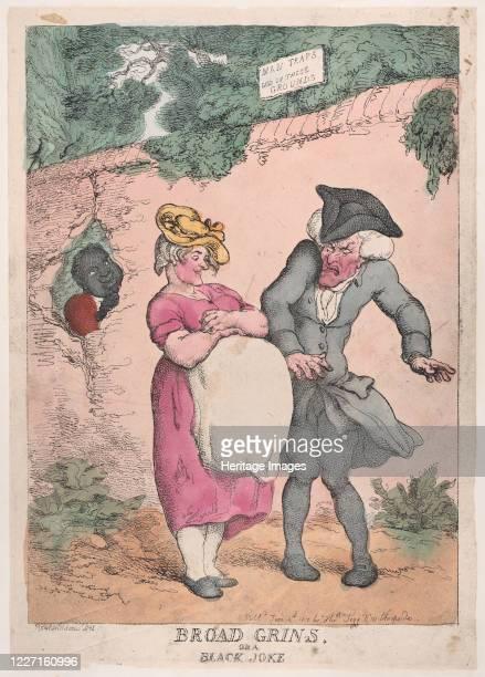 Broad Grins or a Black Joke June 4 1812 Artist Thomas Rowlandson