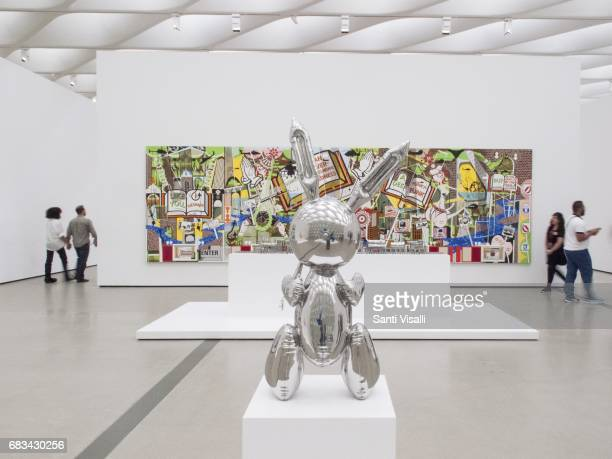 Broad Museum Rabbit by Jeff Koons on May 5 2017 in Los Angeles California