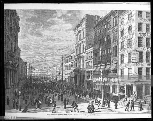 Broad Street during the Panic' , late 1860s.