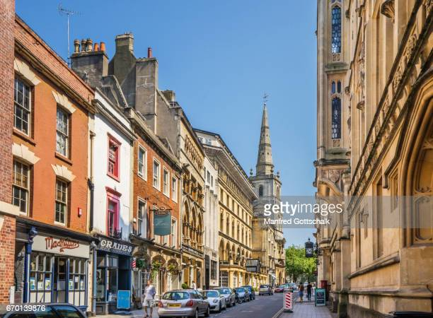 broad street historic centre of bristol - bristol stock pictures, royalty-free photos & images