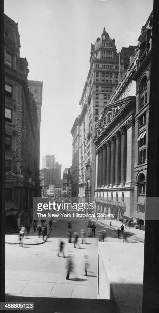 Broad Street looking south from Wall Street New York New York 1895 New York Stock Exchange visible