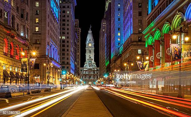 broad street philadelphia - philadelphia pennsylvania stock pictures, royalty-free photos & images