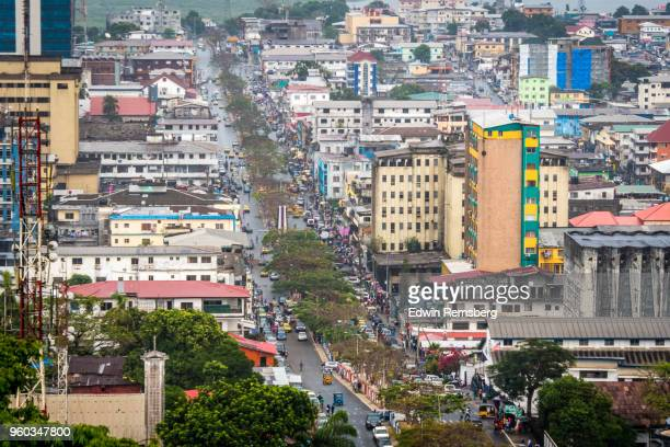 broad street - liberia stock pictures, royalty-free photos & images