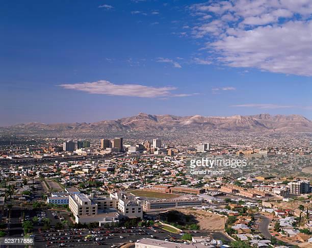 Broad View of El Paso and Juarez