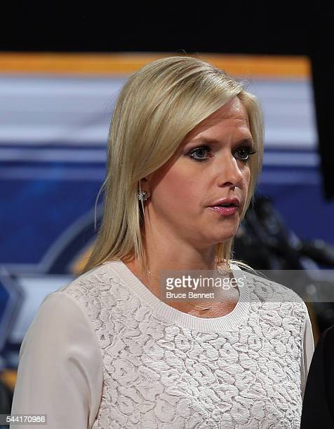 Broadacster Kathryn Tappen attends the 2016 NHL Draft on June 25 2016 in Buffalo New York