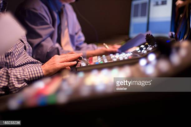 broadcast control studio - broadcasting stock pictures, royalty-free photos & images