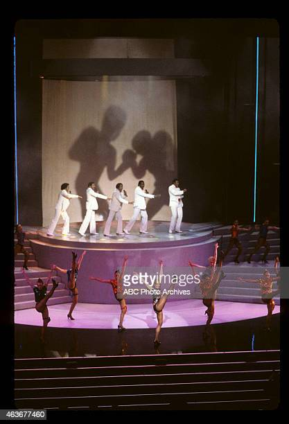 April 11 1983 THE TEMPTATIONS PERFORMING 'EYE OF THE TIGER' FROM 'ROCKY III' WITH SANDAHL BERGMAN LEADING