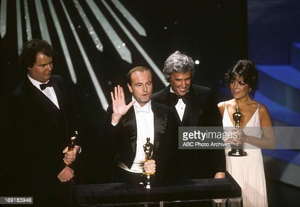 March 29 1982 LR CHRISTOPHER CROSS PETER ALLEN BURT BACHARACH AND CAROLE BAYER SAGER BEST ORIGINAL SONG WINNERS FOR ARTHUR'S THEME