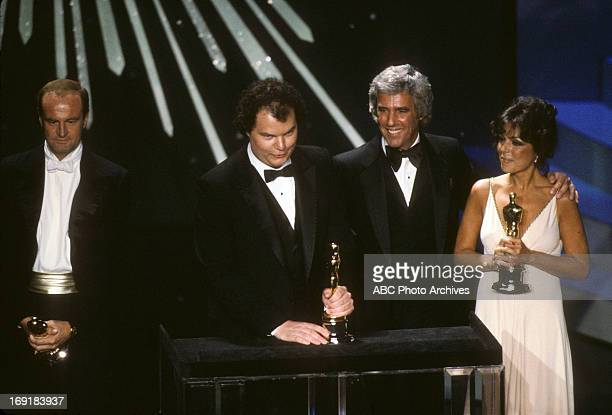 March 29 1982 LR PETER ALLEN CHRISTOPHER CROSS BURT BACHARACH AND CAROLE BAYER SAGER BEST ORIGINAL SONG WINNERS FOR ARTHUR'S THEME