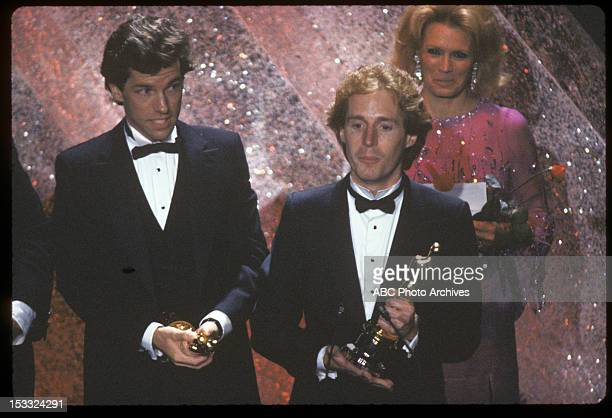 March 31 1981 BEST ORIGINAL SONG WINNERS DEAN PITCHFORD AND MICHAEL GORE FOR 'FAME' WITH
