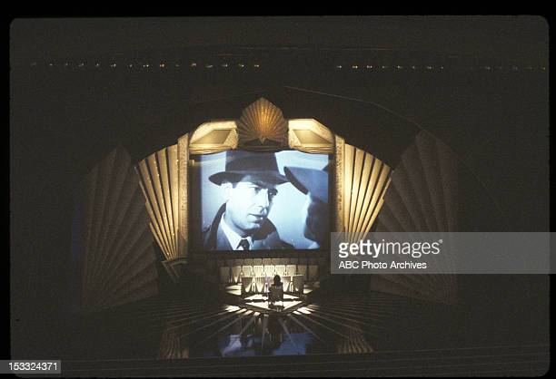 March 31 1981 LUCIE ARNAZ WATCING HUMPHREY BOGART AND INGRID BERGMAN IN 'CASABLANCA' PROJECTED