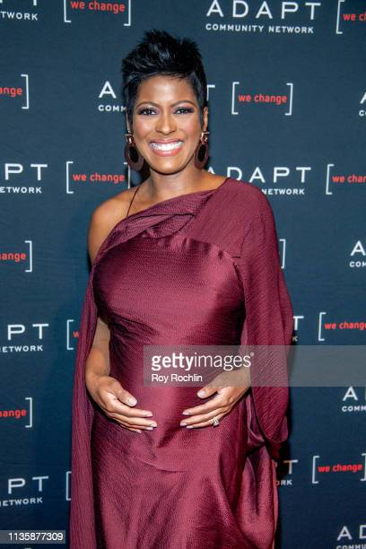 Broadcast journalist and television host Tamron Hall attends the 2019 Adapt Leadership Awards at Cipriani 42nd Street on March 14 2019 in New York...
