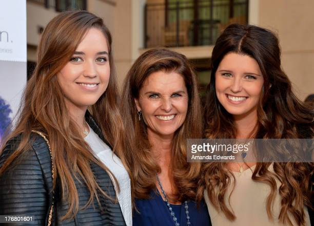 Broadcast journalist Maria Shriver and her daughters Christina Schwarzenegger and Katherine Schwarzenegger attend the Team Maria benefit for Best...