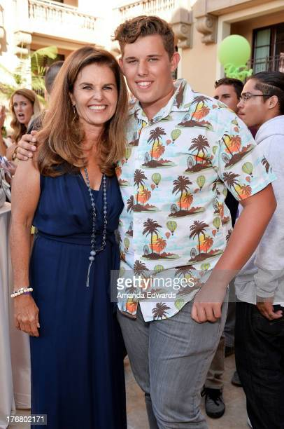 Broadcast journalist Maria Shriver and her son Christopher Schwarzenegger attend the Team Maria benefit for Best Buddies at Montage Beverly Hills on...