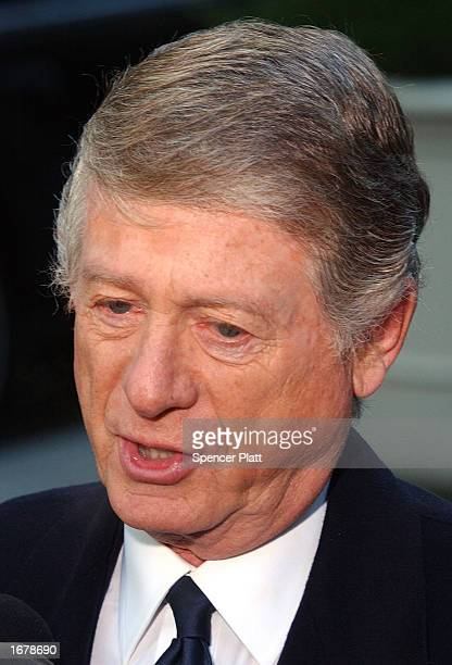 Broadcast journalist Ted Koppel attends the funeral of former ABC News Chairman Roone Arledge December 9 2002 in New York City Arledge who built...