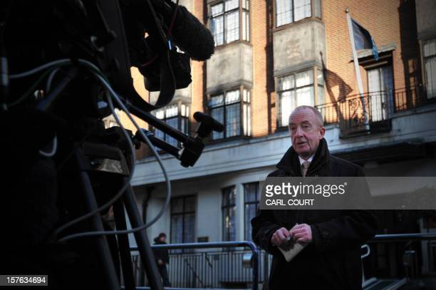 A broadcast journalist works outside the central London hospital on December 5 where Britain's Catherine Duchess of Cambridge is receiving treatment...