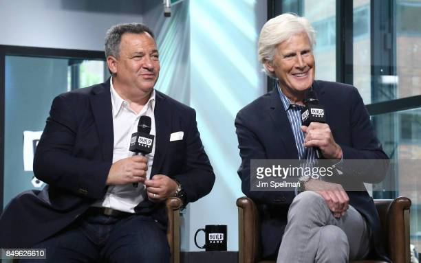 Broadcast journalists Josh Mankiewicz and Keith Morrison attend Build to discuss Dateline NBC at Build Studio on September 19 2017 in New York City