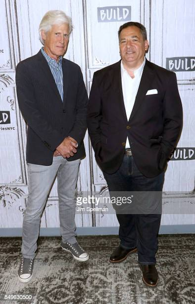 Broadcast journalists Keith Morrison and Josh Mankiewicz attend Build to discuss Dateline NBC at Build Studio on September 19 2017 in New York City