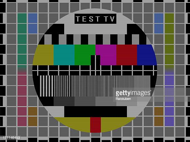 tv broadcast test screen - images stock pictures, royalty-free photos & images