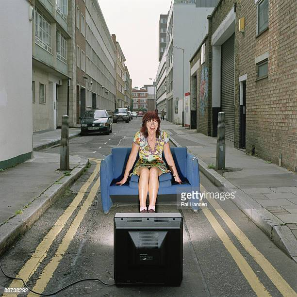 Broadcaster and columnist Janet Street Porter poses for a portrait shoot for the Daily Telegraph in London on May 16 2007