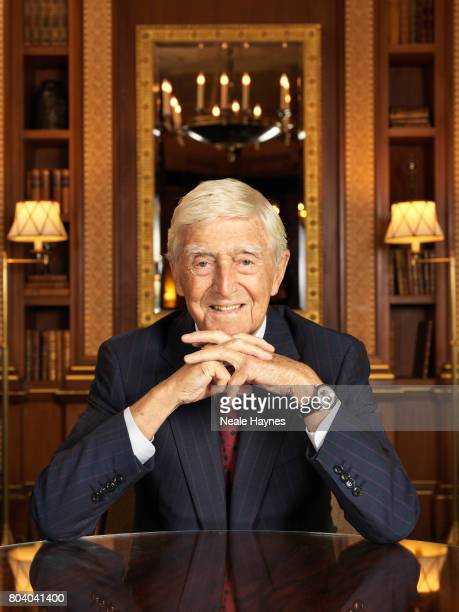 Broadcaster and tv presenter Michael Parkinson is photographed for Daily Mail on May 10 2017 in London England