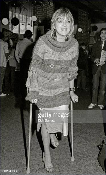 Broadcaster Annie Nightingale at Grunts in Covent Garden London 1980