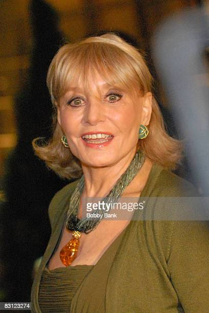 Broadcaster Barbara Walters attends the wedding of Howard Stern and Beth Ostrosky at Le Cirque on October 3 2008 in New York City