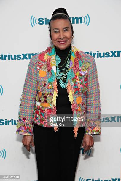 Broadcaster/ civil rights leader Xernona Clayton visits the SiriusXM Studios on March 26 2018 in New York City