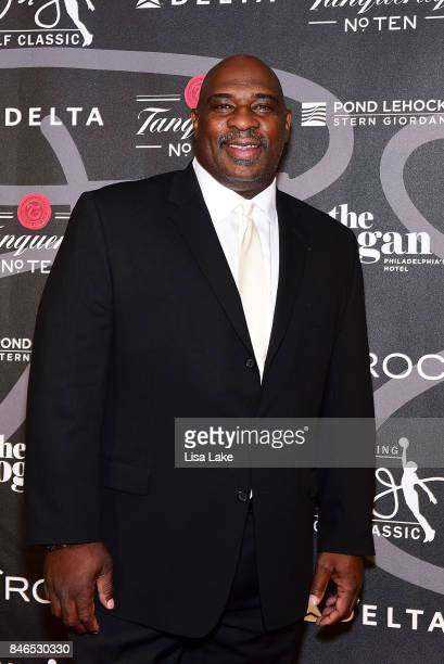Broadcaster Former NFL Star Keith Byars attends the Erving Golf Classic Black Tie Ball sponsored by Delta Airlines Pond LeHocky Law with cocktails...