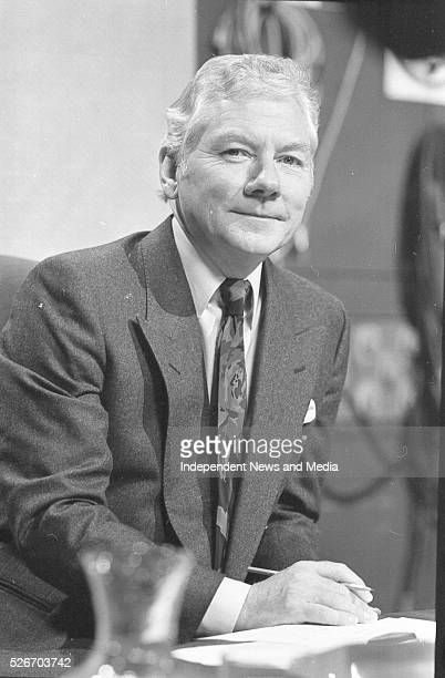 Broadcaster Gay Byrne presenter of The Late Late Show where a special show devoted for debate on the Divorce Referendum took place 20/6/86...