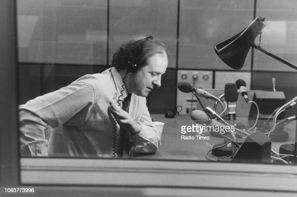 Broadcaster James Naughtie in the studio photographed for Radio Times in connection with the BBC Radio 4 program 'The World at One' September 5th 1990