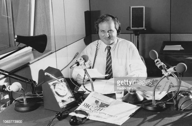 Broadcaster James Naughtie pictured in the studio photographed for Radio Times in connection with the BBC Radio 4 program 'The World at One' 1988...