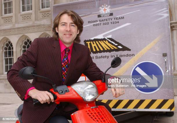 Broadcaster Jonathan Ross during a photocall to launch the City of London ScooterSafe Initiative a road awareness initiative for scooter riders in...