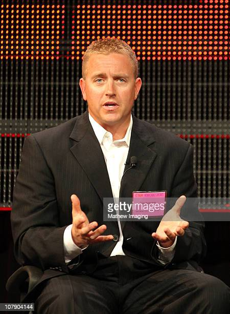 Broadcaster Kirk Herbstreit attends the ESPN Winter 2011 TCA Panel at the Langham Hotel on January 5 2011 in Pasadena California