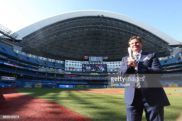 Broadcaster Matt Devlin switches over from the Raptors to the Blue Jays. The Toronto Blue Jays play the San Diego Padres at the Rogers Centre in...