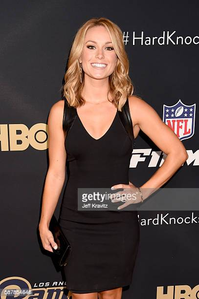 ESPN broadcaster Molly McGrath attends the LA premiere of HBO's Hard Knocks Training Camp With The Los Angeles Rams at Regal LA Live Stadium 14 on...