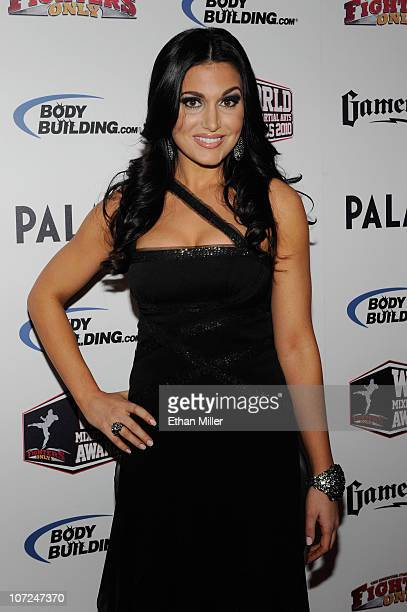 Broadcaster Molly Qerim arrives at the third annual Fighters Only World Mixed Martial Arts Awards 2010 at the Palms Casino Resort December 1 2010 in...