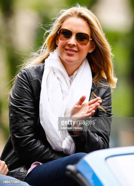 ESPN broadcaster Nicole Briscoe attends the IPL 500 Festival Parade on May 25 2013 in Indianapolis Indiana