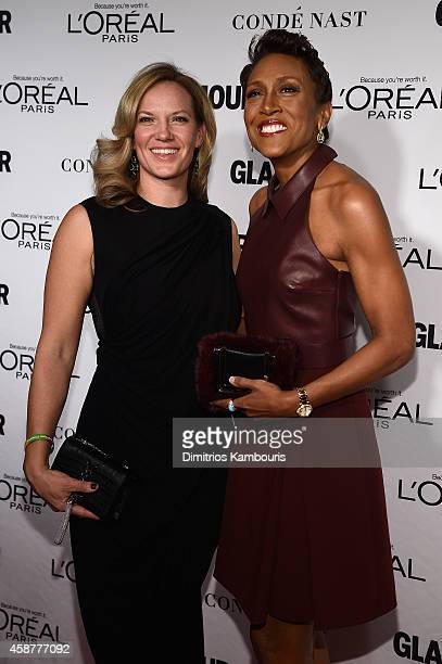 Broadcaster Robin Roberts and Amber Laign attend the Glamour 2014 Women Of The Year Awards at Carnegie Hall on November 10 2014 in New York City